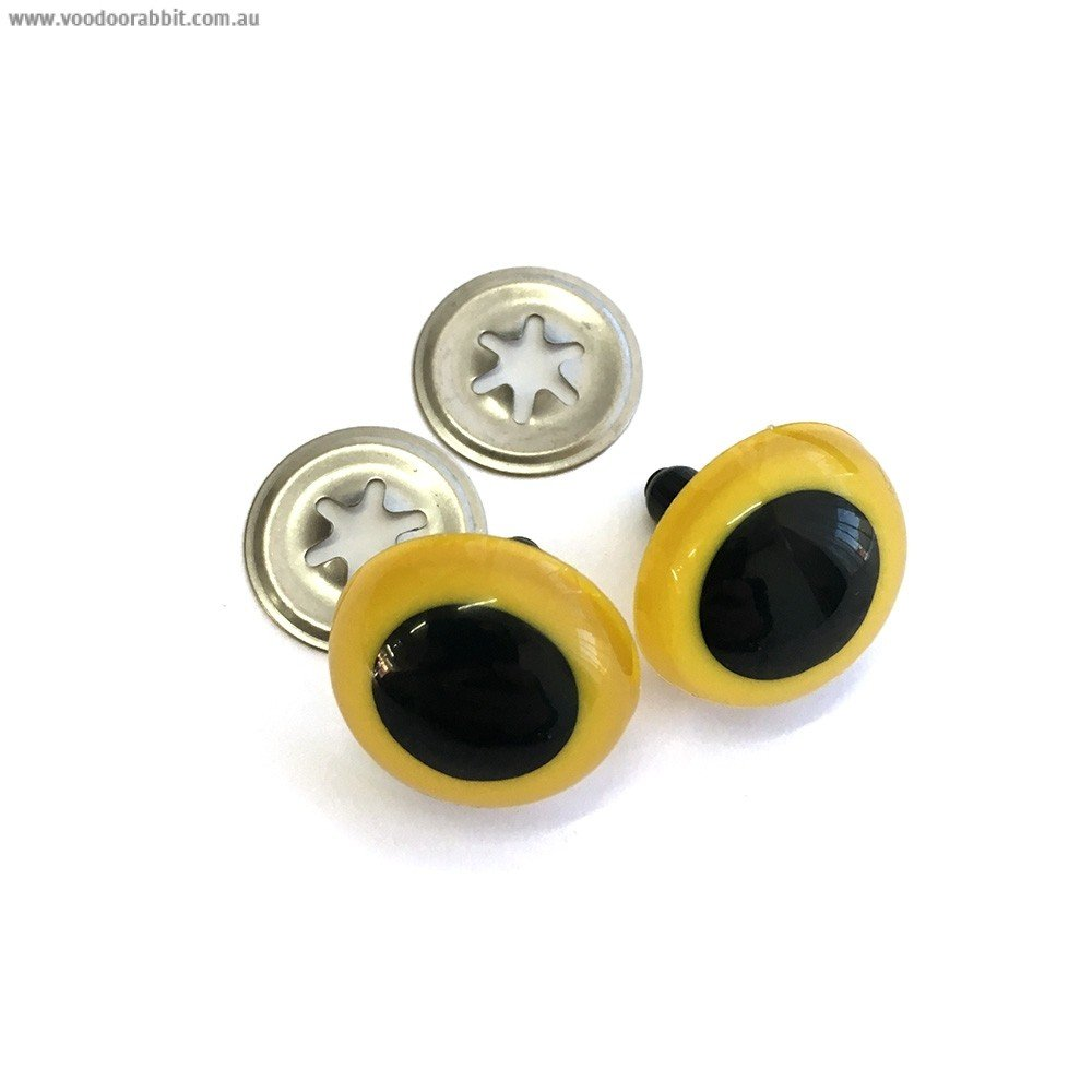 Toy Eyes Crystal 21mm Yellow 10pk