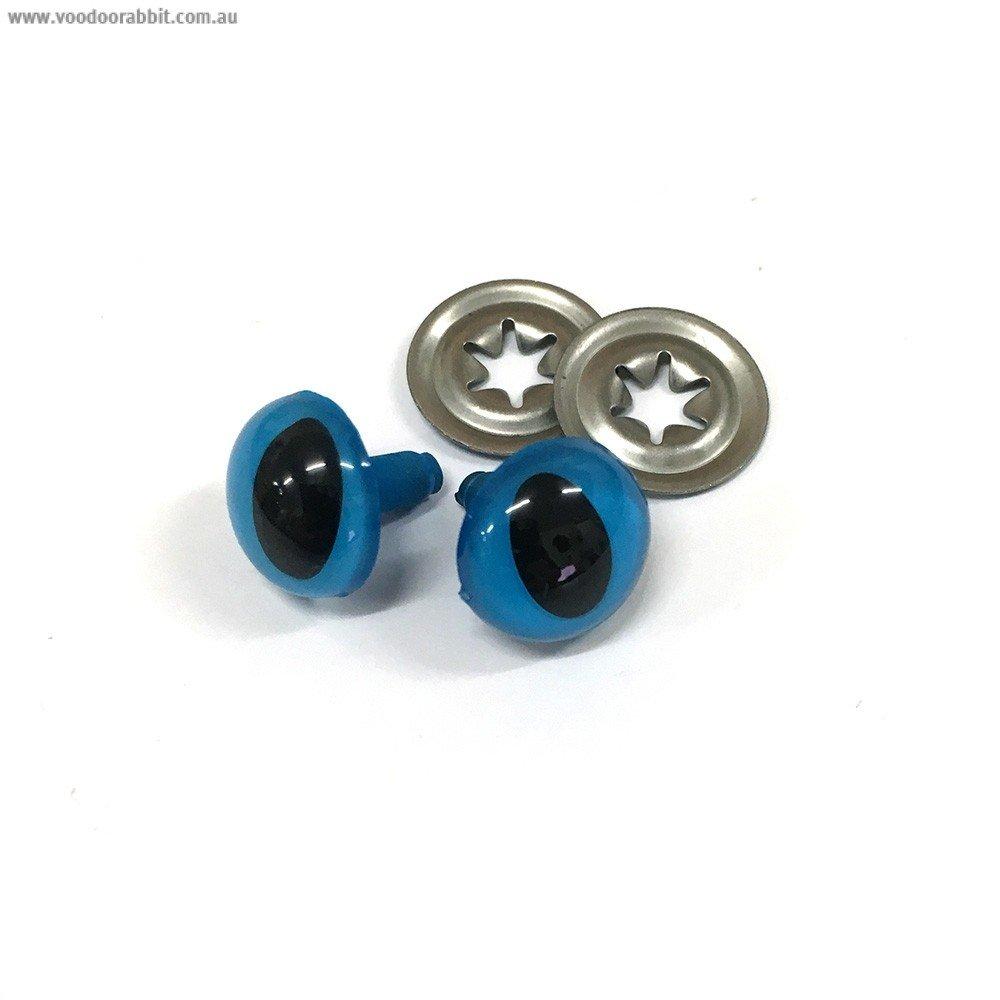 Toy Eyes Cat 12mm Blue 10PK