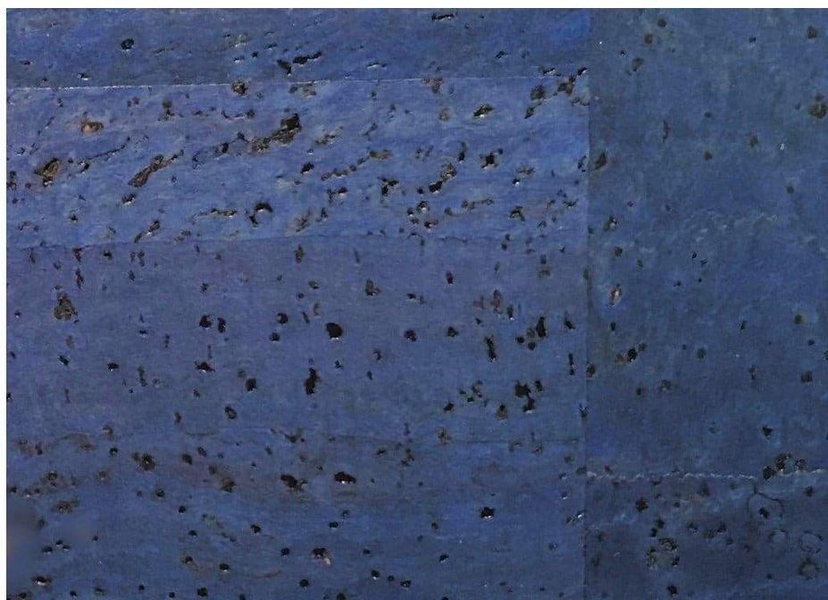 Cork Fabric Denim Blue 18 X 27