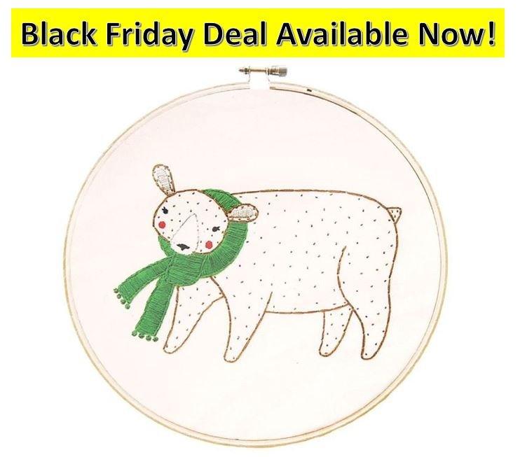 Merriment Embroidery Sample Bear GB 25