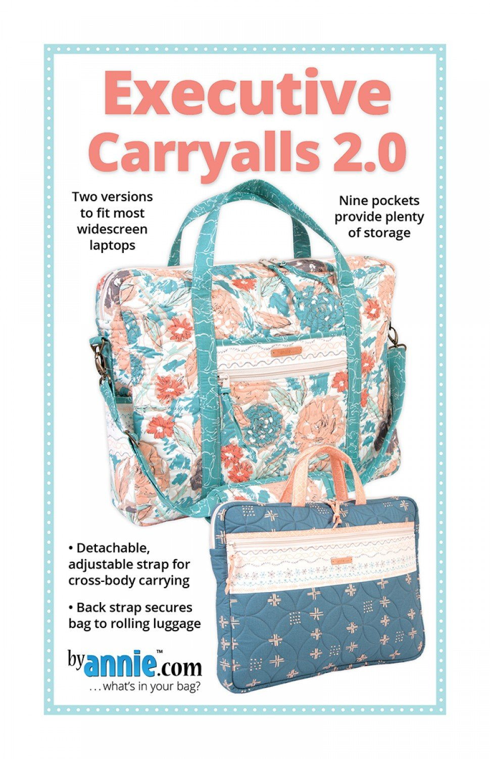 Executive Carryalls 2.0 Patterns By Annie PBA 1102