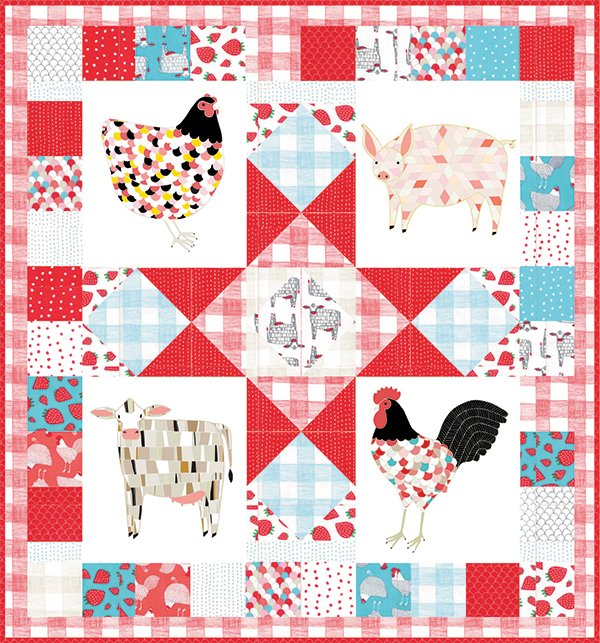 Farm Fresh Panel Quilt Kit 49 X 49