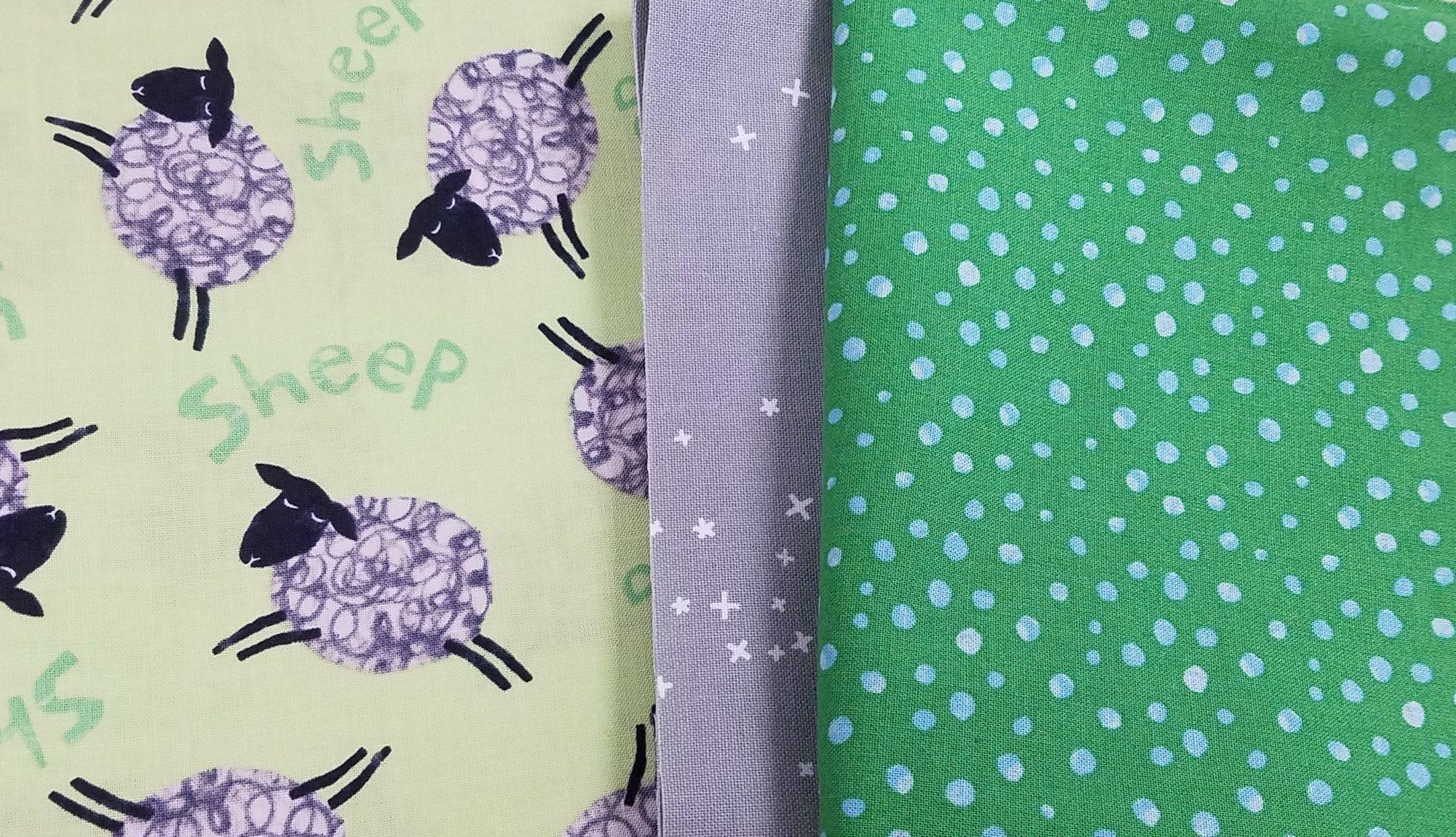 Animal Magic Green Sheep Pillowcase Kit