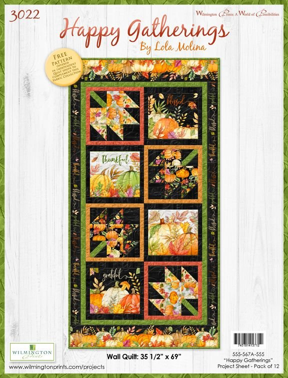 Happy Gatherings Wall Quilt Kit