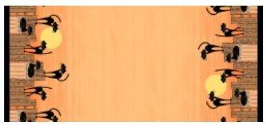 HOCUS POCUS STRAY CAT STRUT DOUBLE BORDER CX7993-ORAN-D