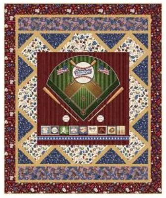 Home Run Quilt Kit/America's Pastime 4029A