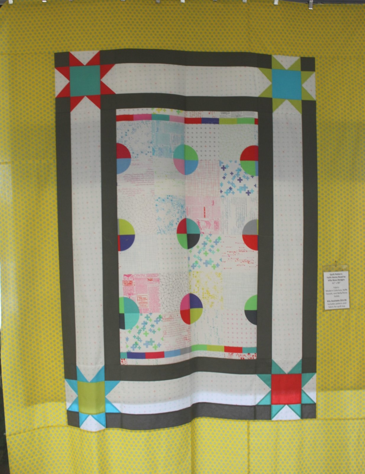 Modern Colorbox Quilt Kit 62 X 80