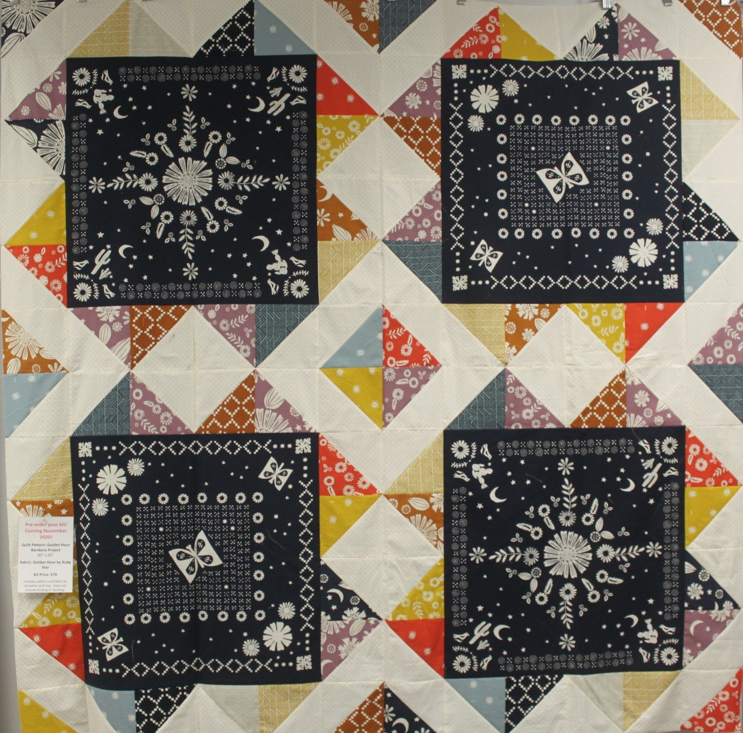 Golden Hour Bandana Quilt Kit Pre-order