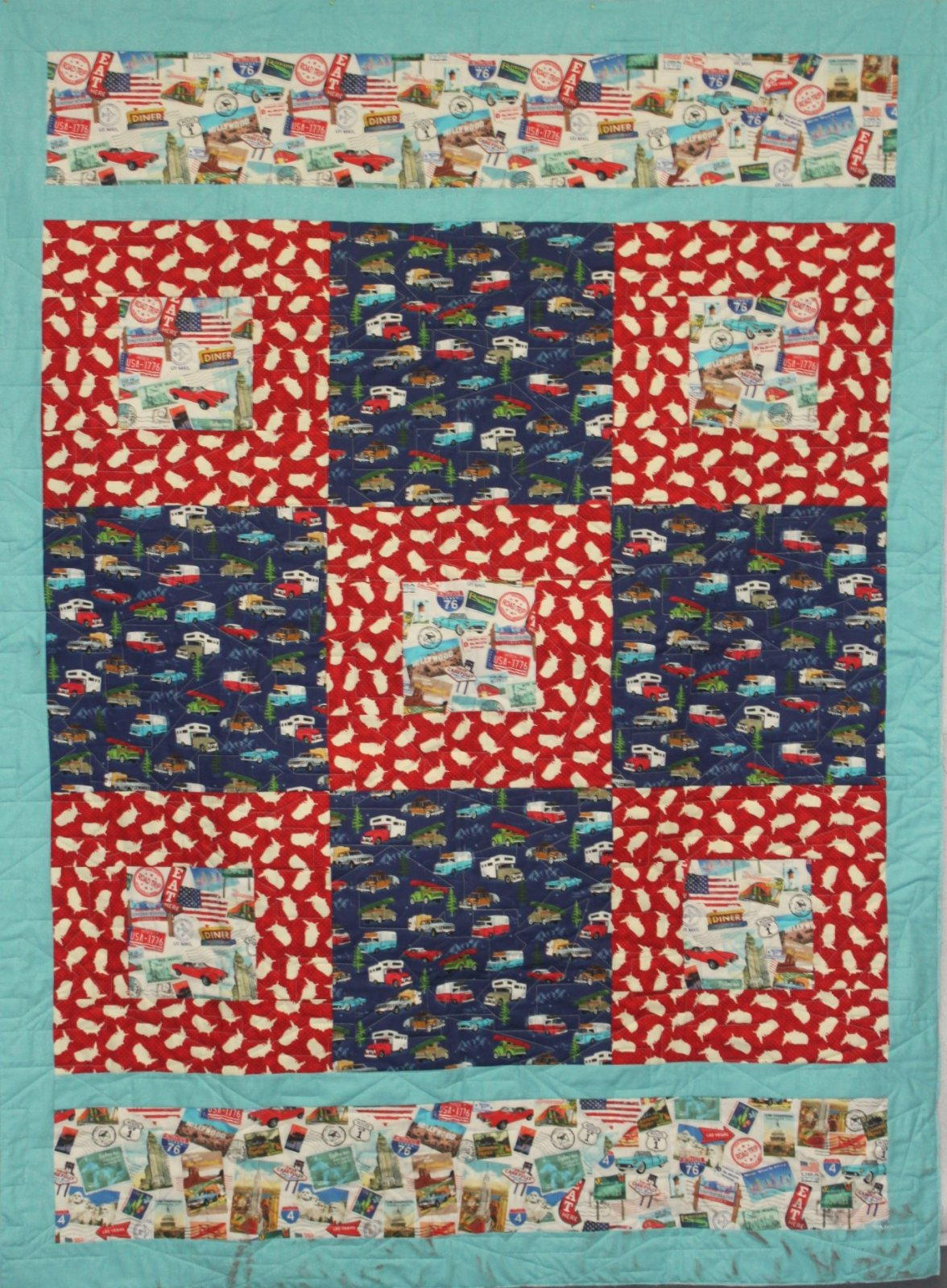 American Road Trip Liberty Bell Quilt Kit