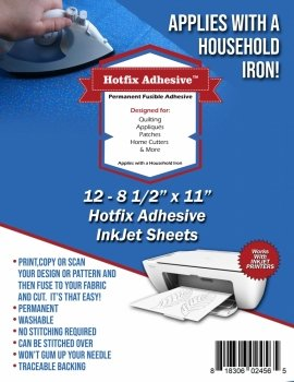 Hotfix Adhesive InkJet Sheets 12 - 8 1/2 x 11