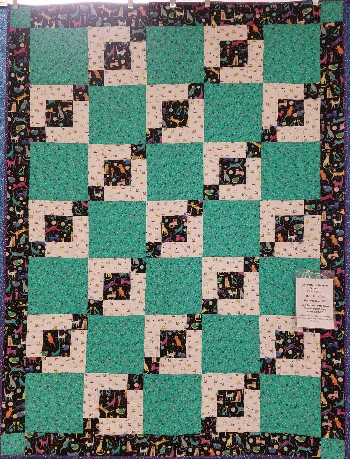 Kitty Cats Stepping Stones Quilt Kit