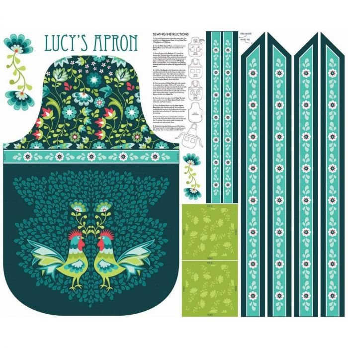 Lucy's Apron Panel Teal P8645-Teal
