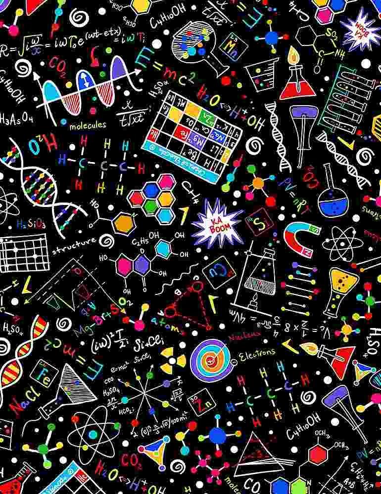 Mathematics Bright Science Doodles SAMARRA-C1425 BLACK