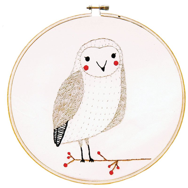 Merriment Embroidery Sample Owl GB 23