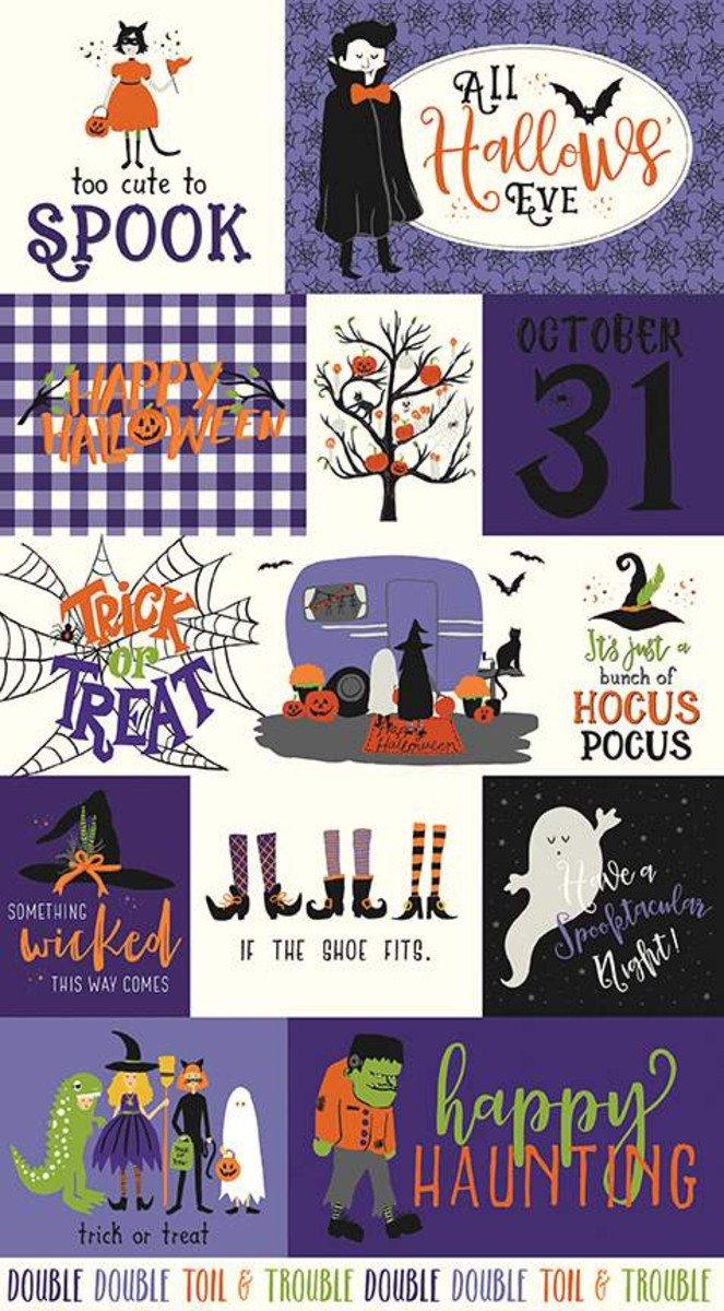 Hocus Pocus 24 Panel Purple P9495-PURPLE