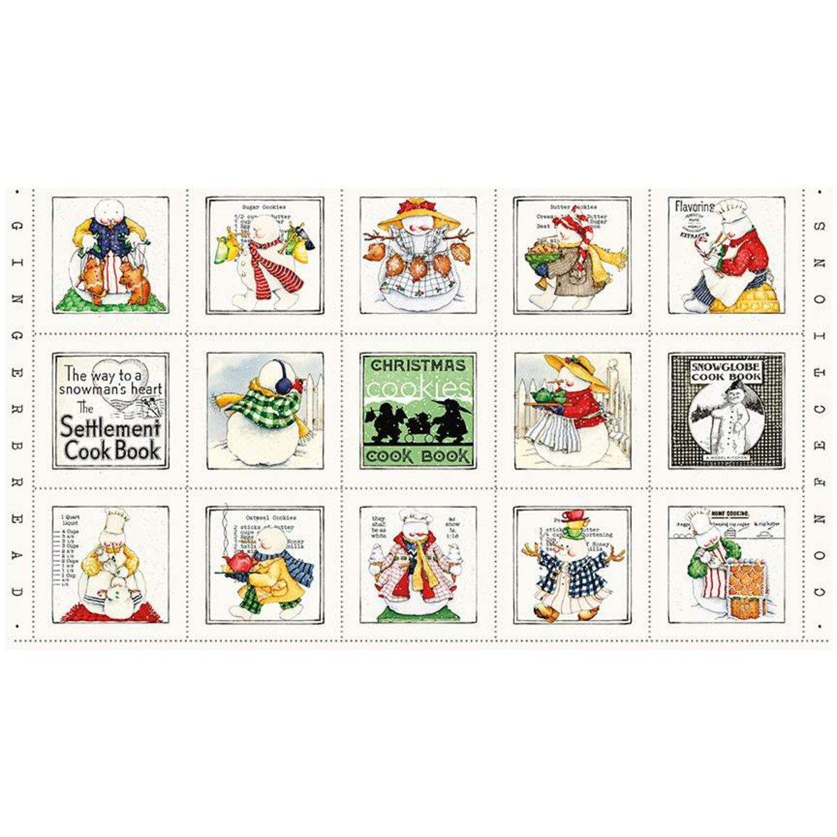 Snow Sweet 24 Christmas Cooks Panel P9662 PANEL