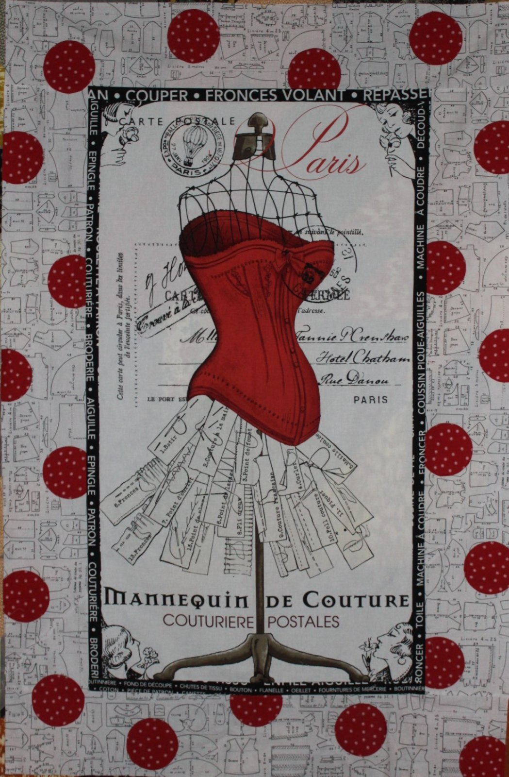 Polka Dot Paris Quilt Kit