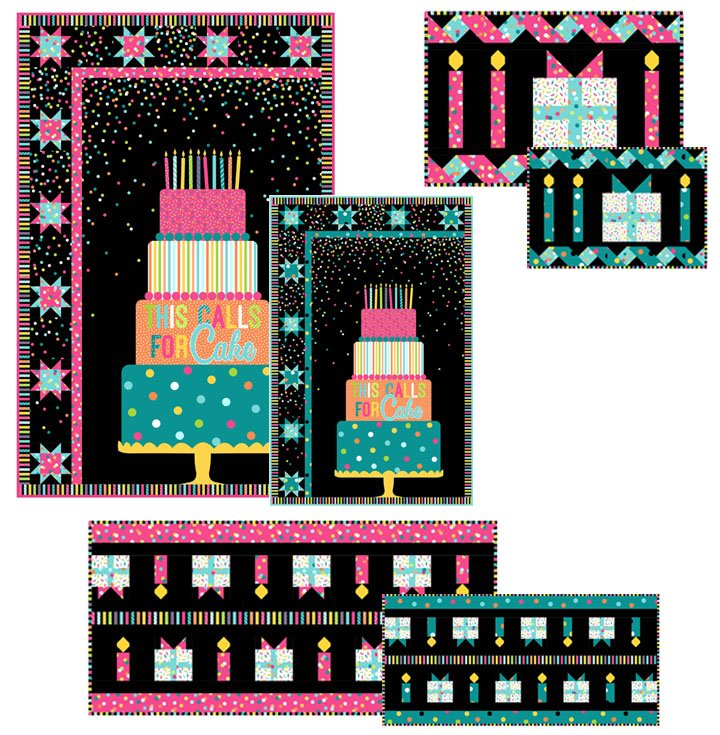 This Calls For Cake Wall Hanging Pink Colorway