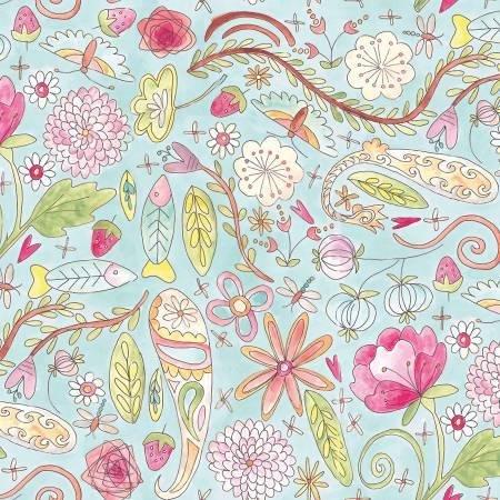 The Dress Aqua Garden PWLH002 AQUA