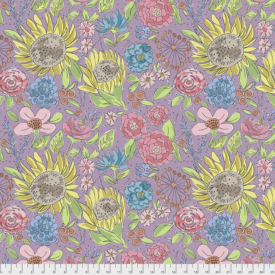 Color Fusion Sunflower Lavender PWLH017