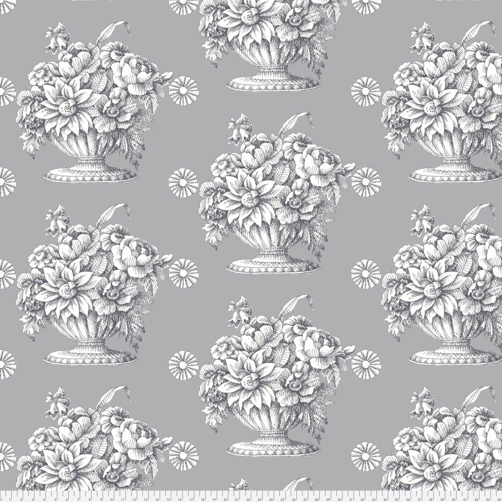 Stone Flower Grey 108 Wide