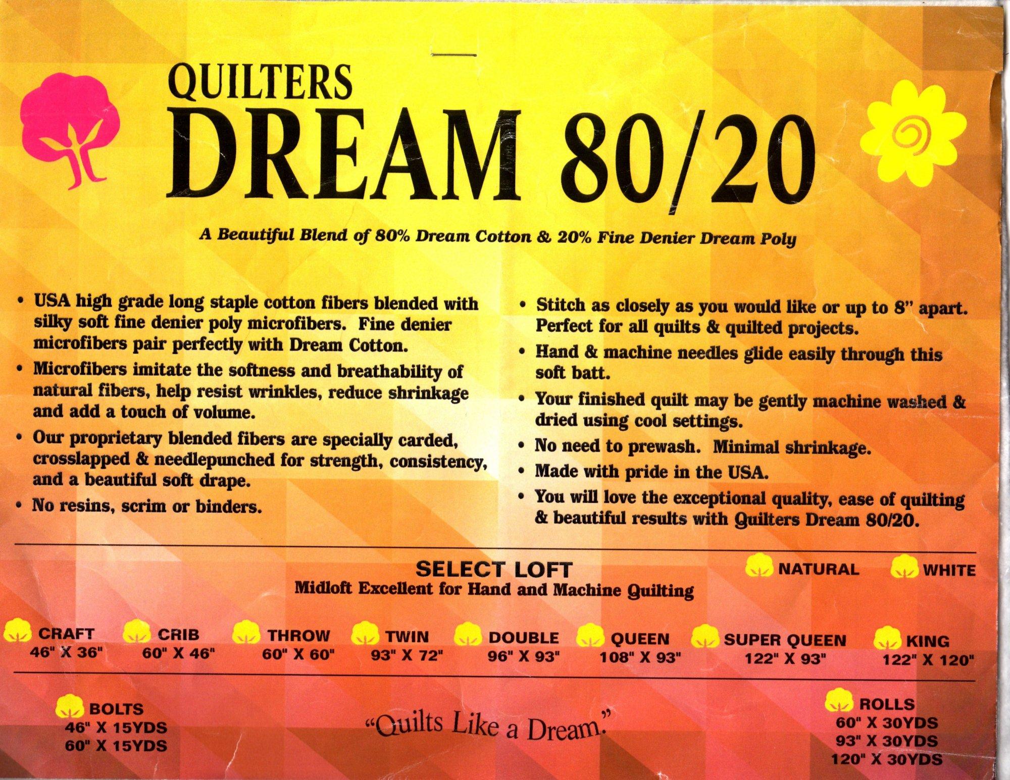 Dream 80/20 Natural Throw Bolt ENBOLT61