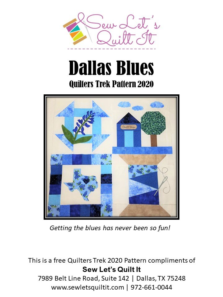 Quilters Trek 2020 Dallas Blues Kit ONLINE SKU