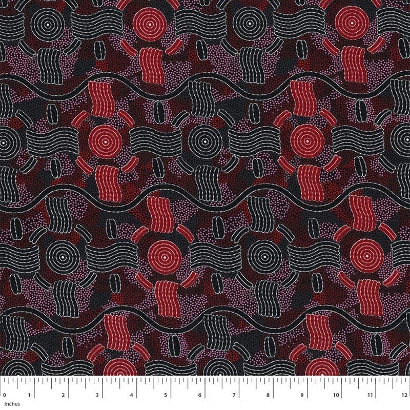 M&S Textiles Rain Dreaming Red RAIDR