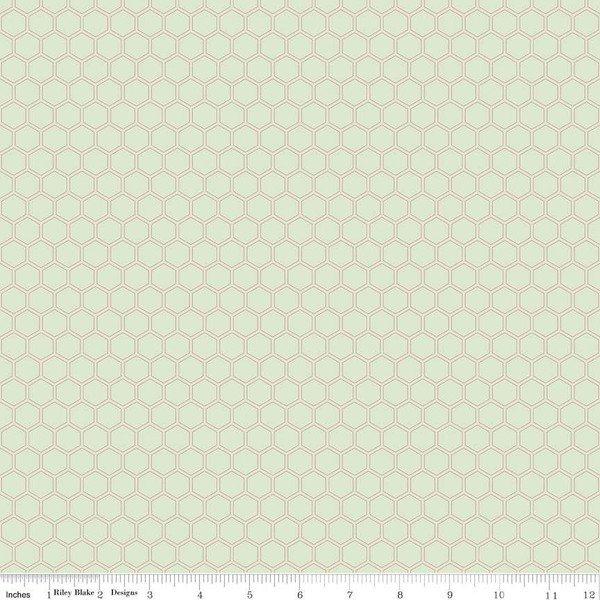 Bliss Honeycomb Mint Sparkle SC8165