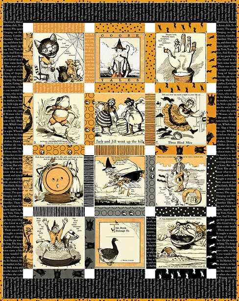 Goosetales Scary Story Book Quilt