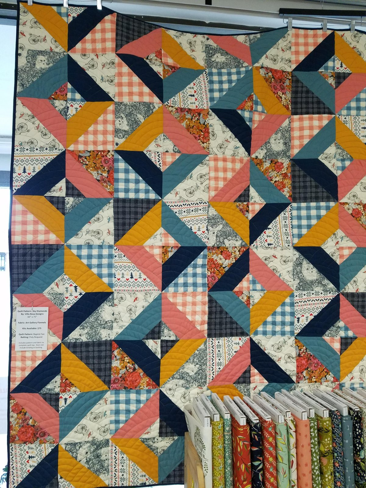 Sky Diamonds Art Gallery Flannels Quilt Kit
