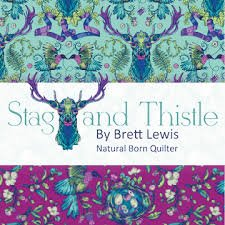 Stag and Thistle by Northcott Fabrics