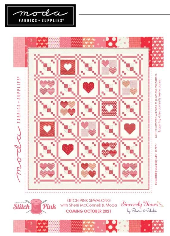 Stitch Pink 2021 Sincerely Yours Quilt-Along Quilt Kit Preorder