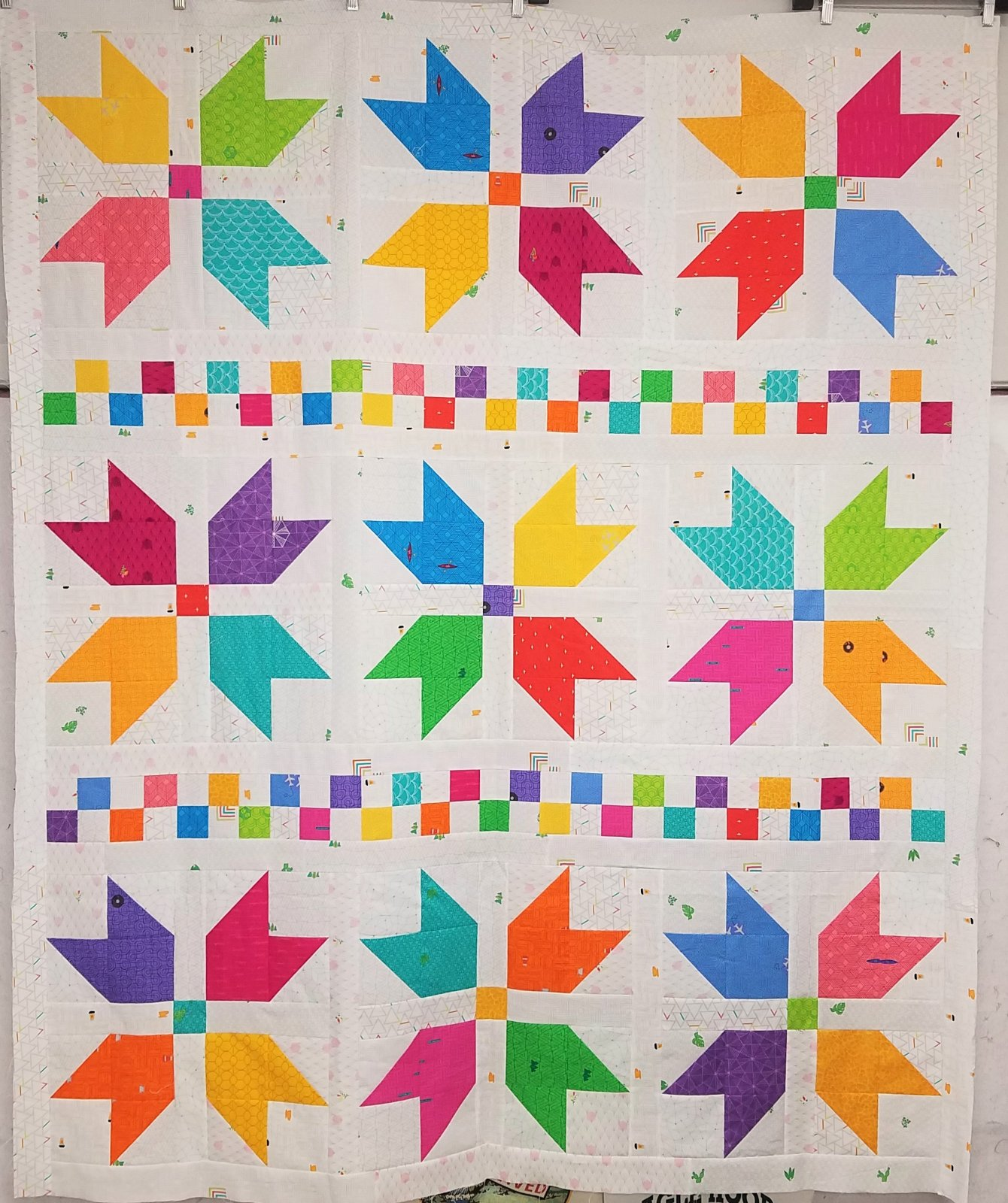 Sweater Weather Scrappy Rainbow Quilt Kit