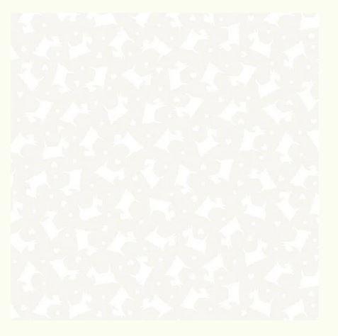 Tonal Scottie Dogs White/White Better Basics 07806 09B