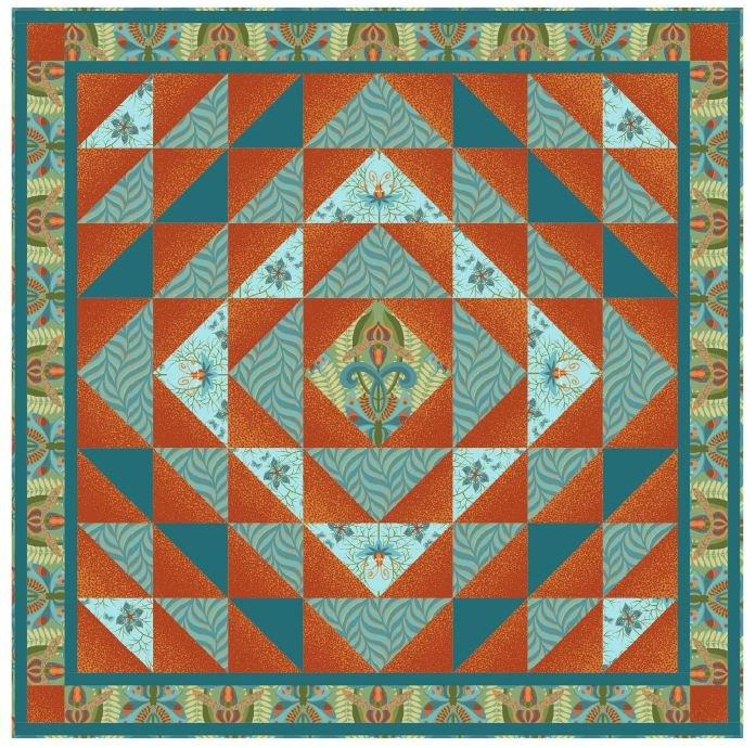Autumn Waves Nouveau Quilt Kit