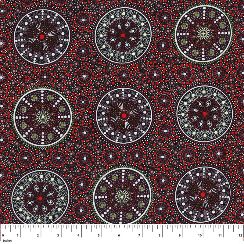 M&S Textiles Wildflowers After Rain Red WFARR