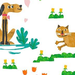 Animal Magic Dog & Cats Dark Gold Y2892 69