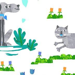 Animal Magic Dogs & Cats Gray Y2892 6