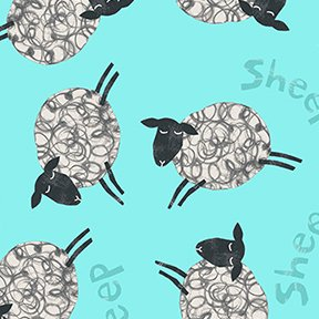 Animal Magic Sheep Aqua Y2893 33