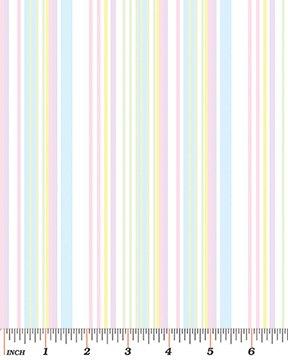 Soft Stripe White/Pastel