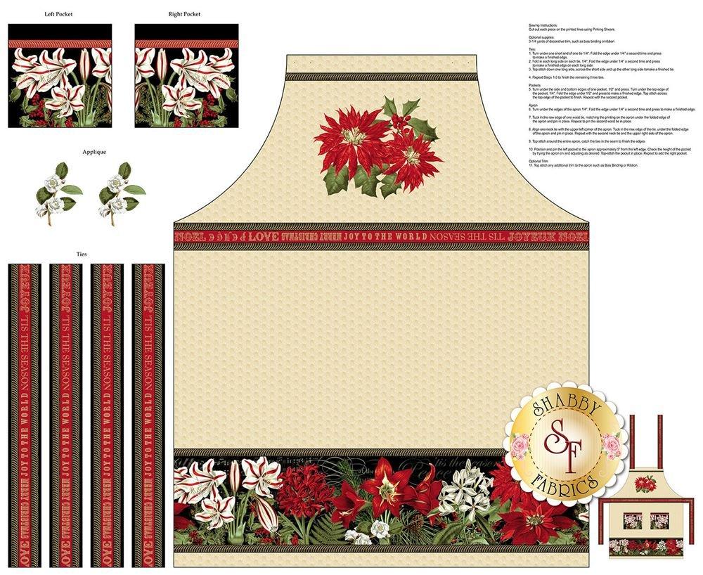 Yuletide Botanica - Apron Panel
