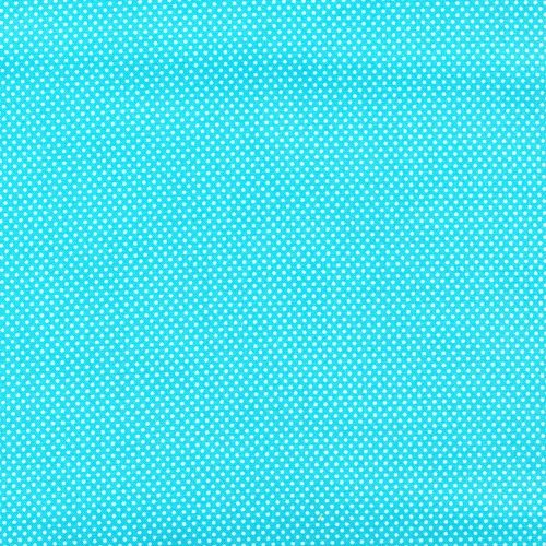 Essentials Micro Dot - Turq/White