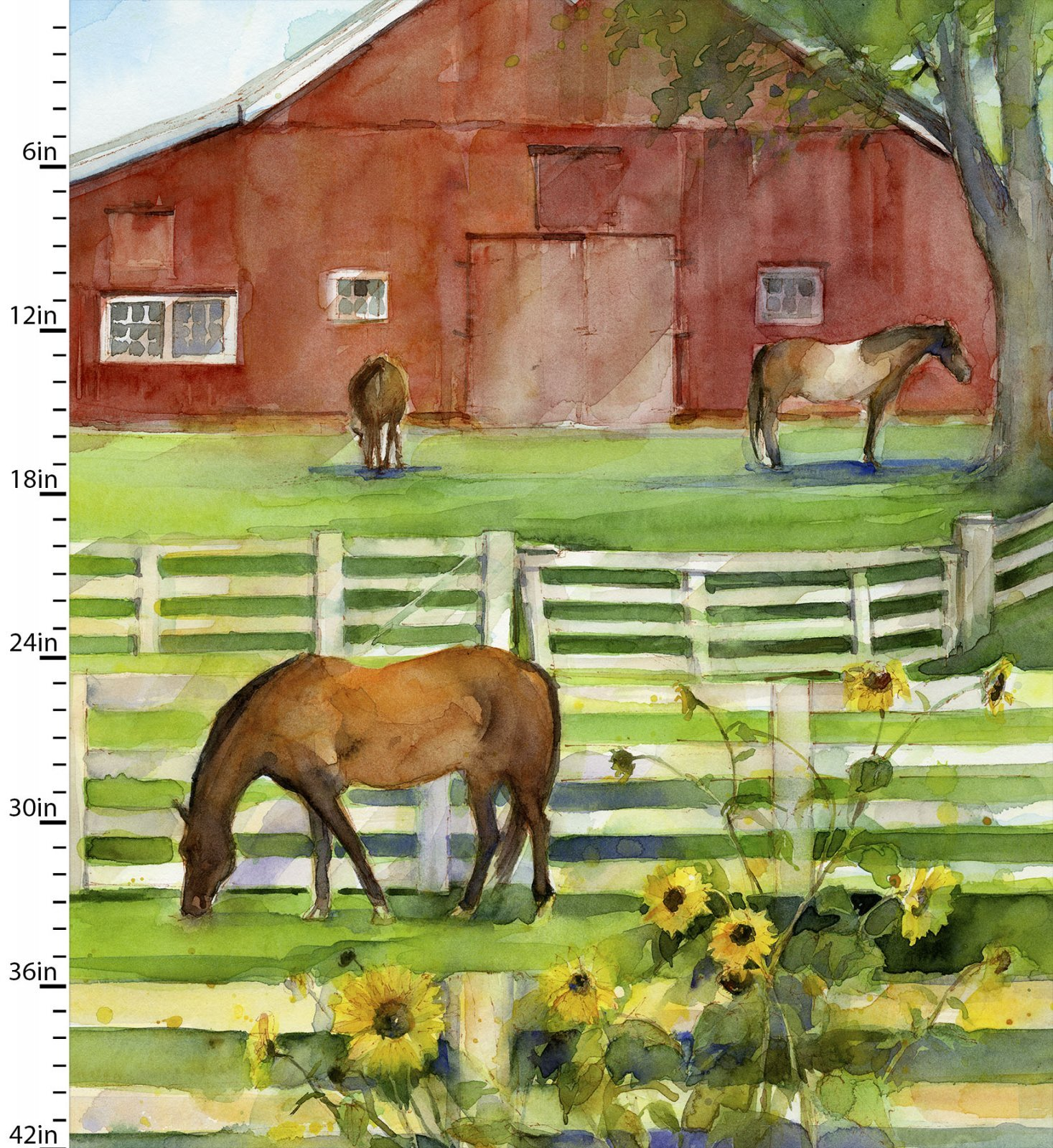 Sunflower Stampede - Barn Panel