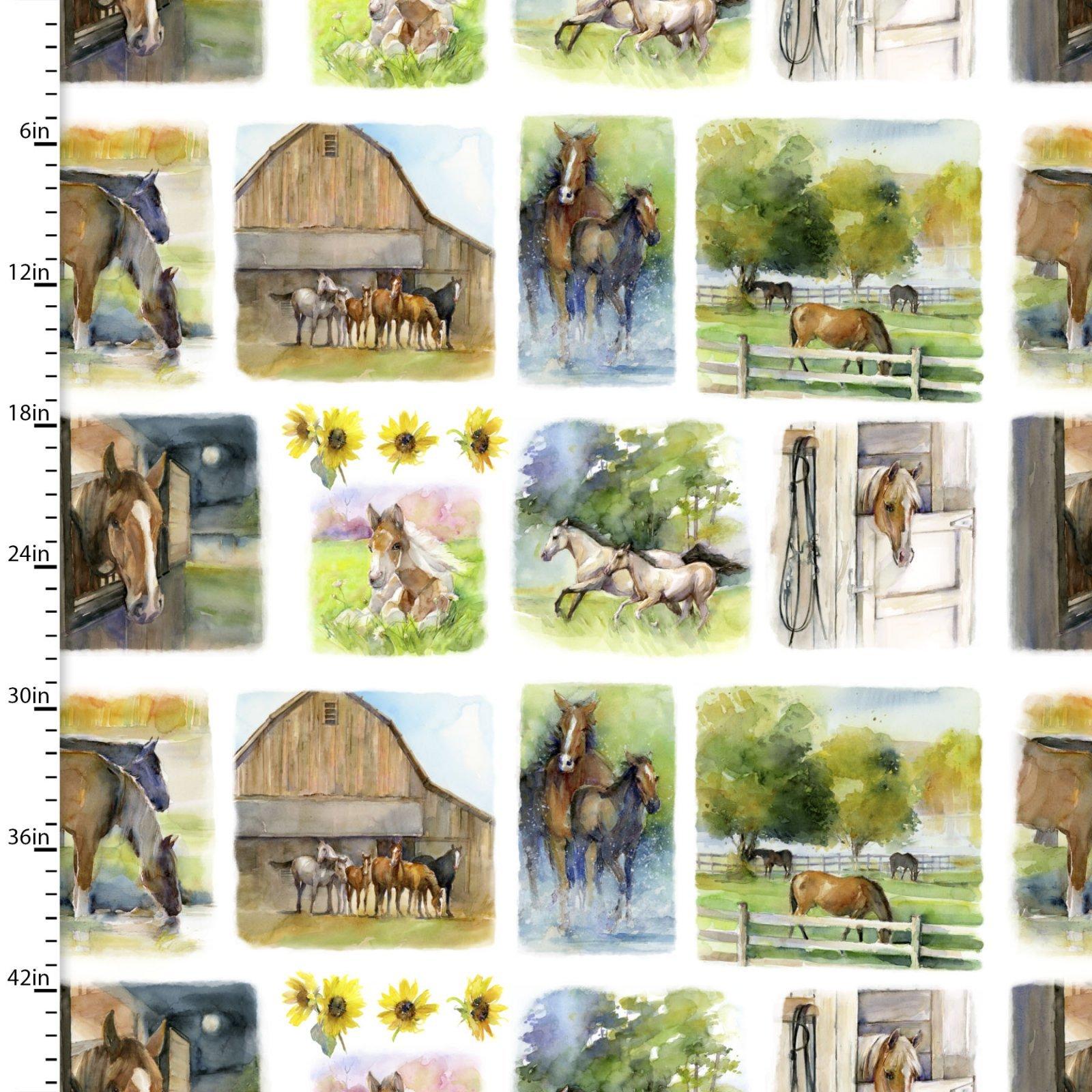 Sunflower Stampede - Farm Scenes Panel