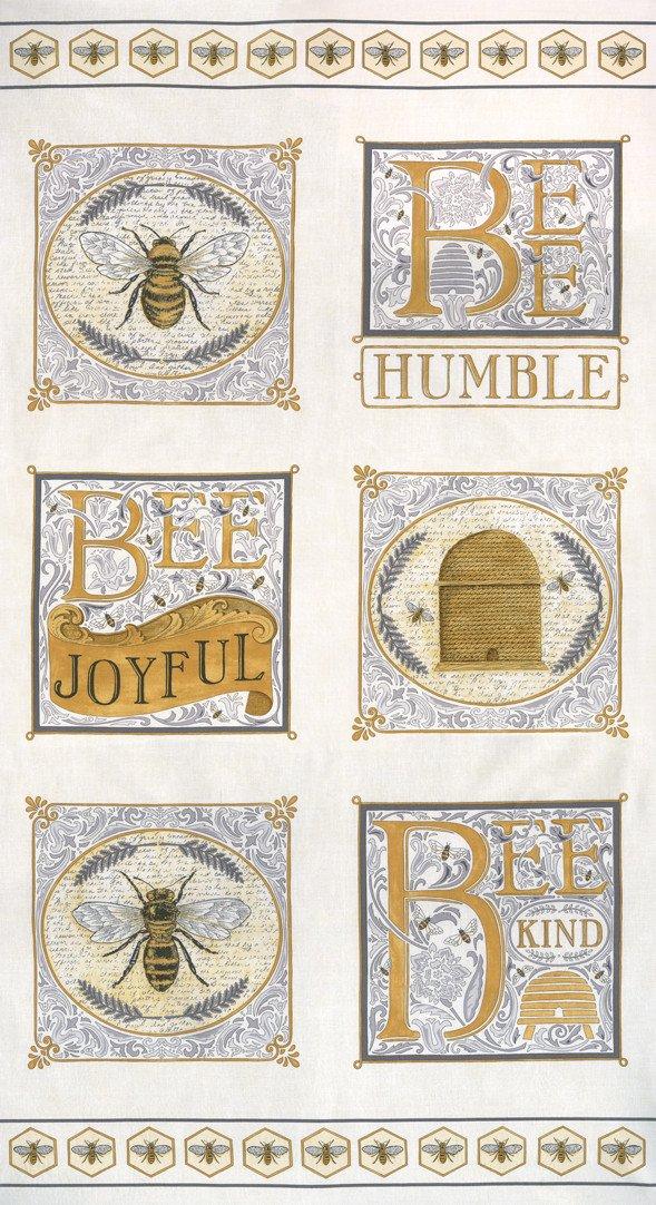 Bee Joyful Panel - Laurel White