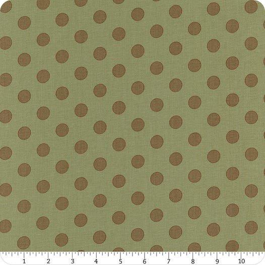 Harvest Road Sage Chestnut Modern Dot