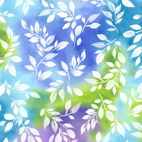 Mimosa - Leaf - Blue/Multi