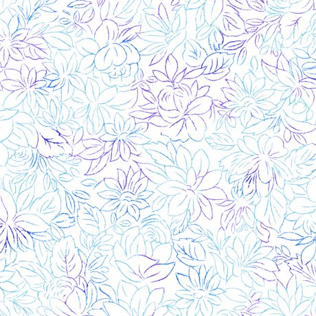 Mimosa - Toile Flowers - White