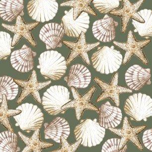 Seaside Shells Green